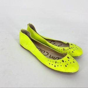 Sam Edelman neon green shoes flats ballet slipper